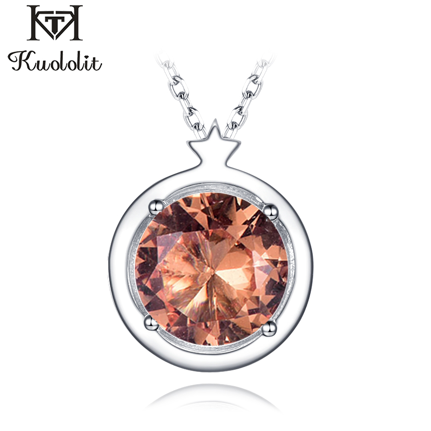 Kuololit Zultanite Gemstone Pendants For Women Jewelry Christmas Genuine 925 Sterling Silver Color Change Diaspore Without Chain