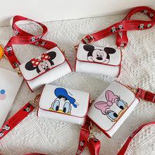 Petit sac en bandoulière avec personnages de Disney pour enfant, accessoire inspiré des figures de Mickey et Minnie, petit porte-monnaie pour filles, 2020,