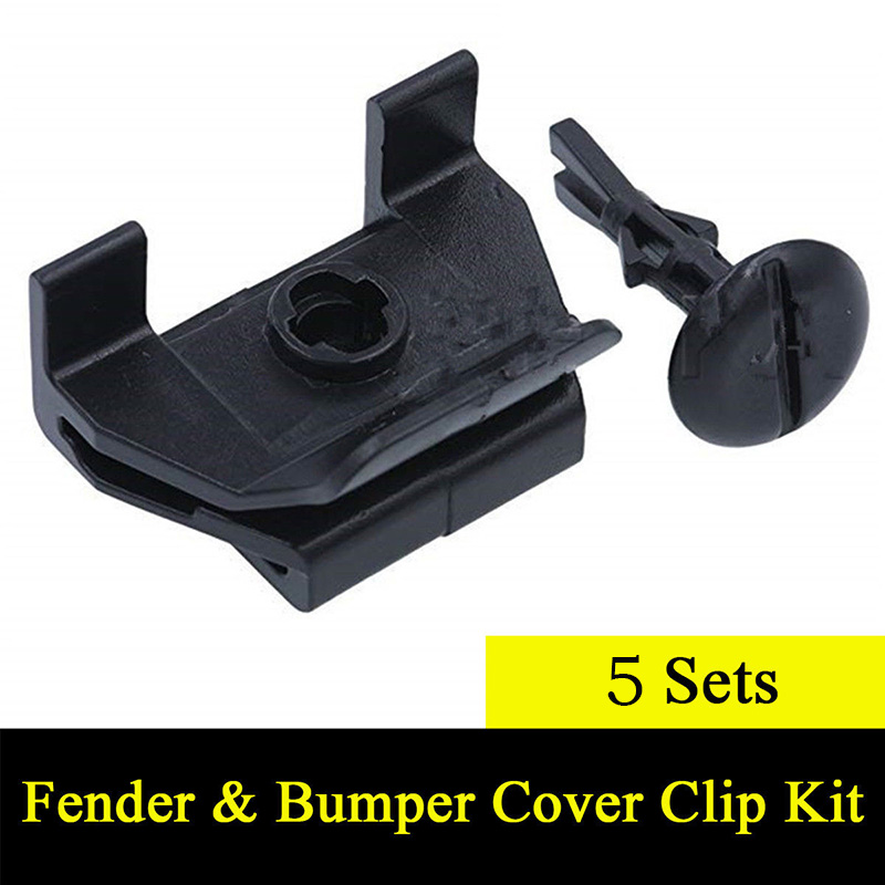 Front Cover For Toyota Camry Corolla Lexus Clip 5 Sets Car Black Universal Useful