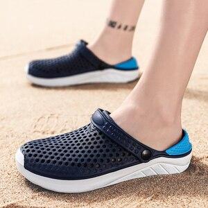 Image 3 - Unisex Spiaggia di Modo Zoccoli di Spessore Suola Pantofola Impermeabile Anti Slittamento Sandali di Flip Flops per Le Donne Degli Uomini