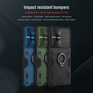 Image 2 - for Samsung S21 Plus Note 20 Ultra Case Nillkin Armor Impact Resistant Slide Camera Lens Protect Cover for Galaxy Note20 S20 FE