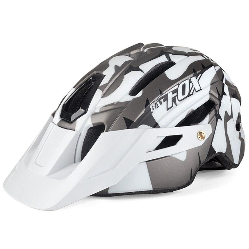Крутой шлем для горного велосипеда, камуфляжный шлем для горного велосипеда, шлем для езды на горном велосипеде с большими полями, защитный ...