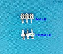 10pk أنثى ذكر Luer حقنة تركيب (معدن) ، Luer قفل تركيب موصل