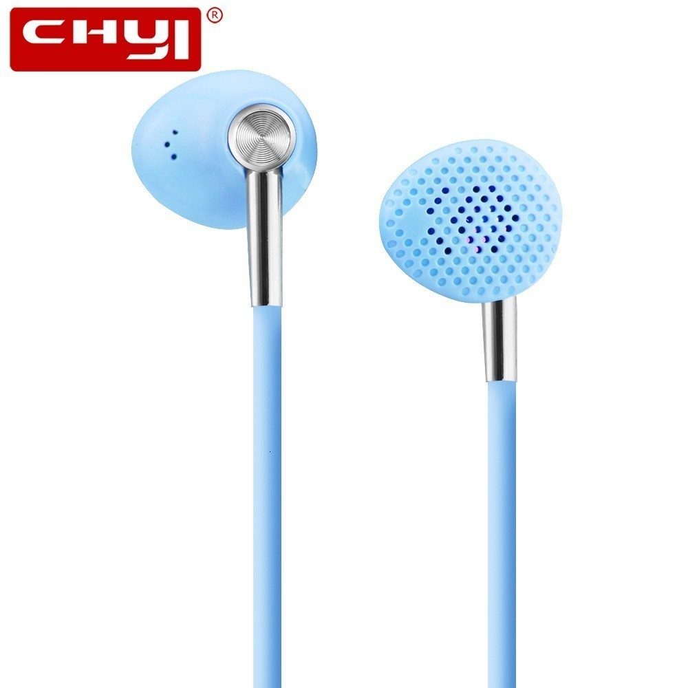 CHYI Wired Electroplated Colorful Stereo In-ear earphone White/Pink/Light Blue Color Handsfree Call Phone earphones For Phone