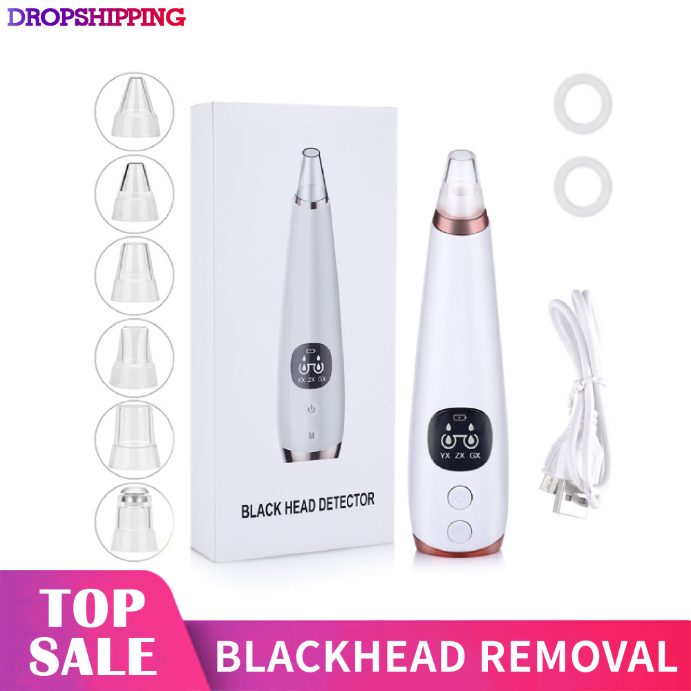 Blackhead Remover Nose Skin Care Pore Vacuum Acne Pimple Removal Vacuum Suction Tool Facial Diamond Face Clean Machine