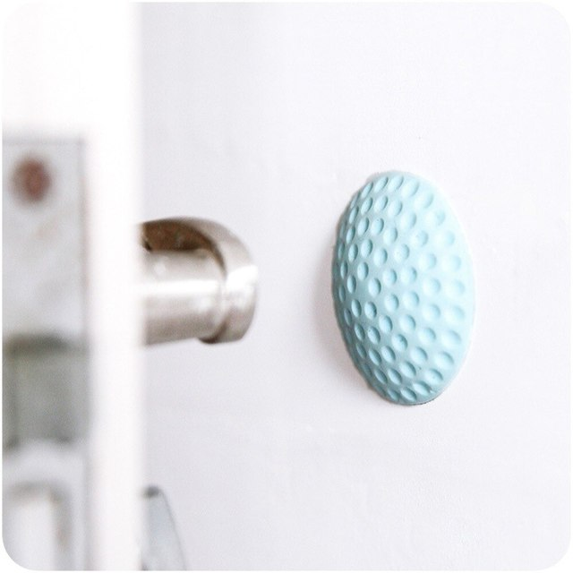 New Thickening Mute door rear wall crash pad golf shape rubber anti-collision pad Safe door handle lock protection Wall Stick 2