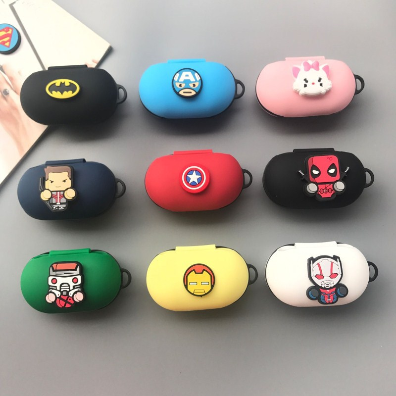 Cartoon Wireless Bluetooth Earphone Case For Samsung Galaxy Buds Silicone Charging Headphones Cases For Galaxy Buds Case Cover
