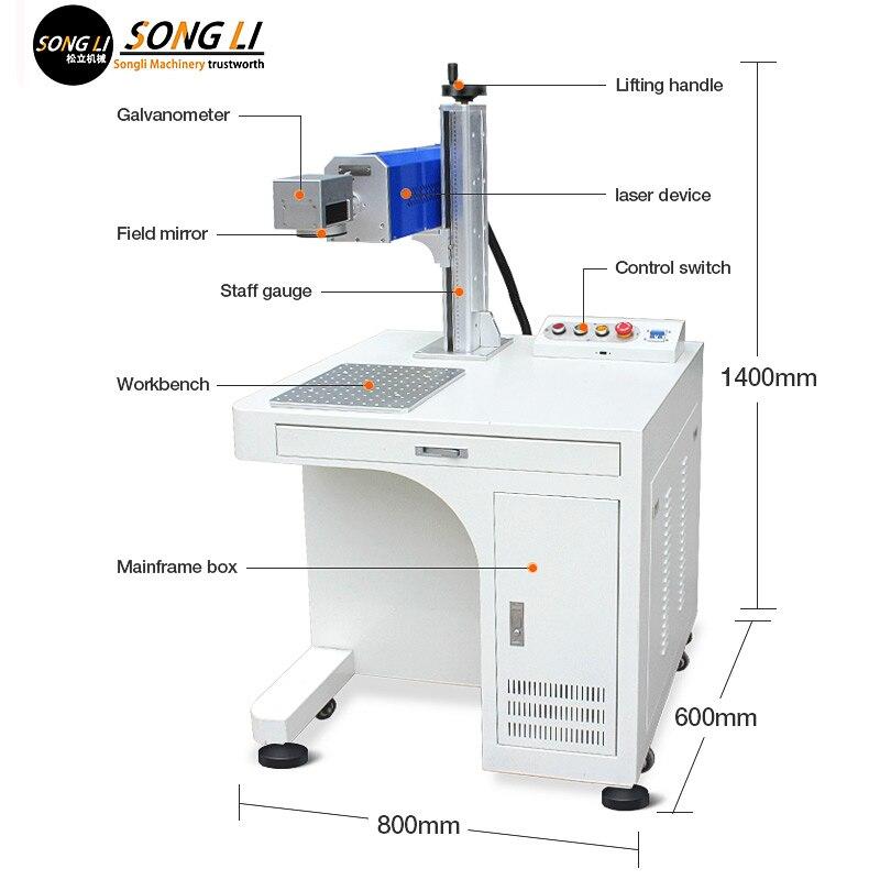 Songli 20w co2 laser kennzeichnung schrank typ optische faser kennzeichnung maschine metall gravur maschine tragbare kleine laser maschine