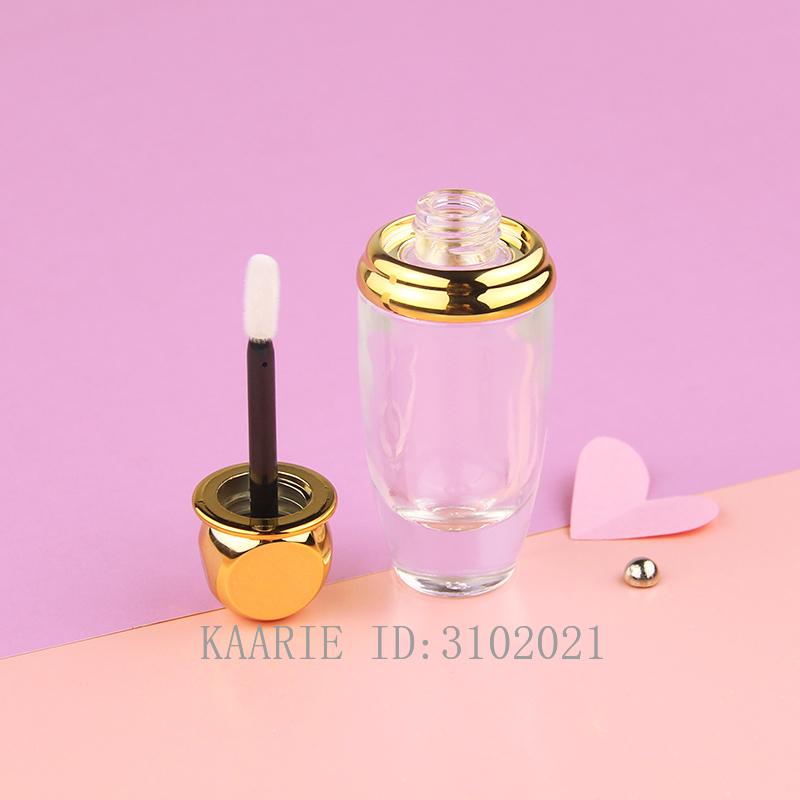 10/30/50pcs Round Gold Glass LIP Gloss Container Empty Makeup DIY Lip Glaze Tube Cosmetics Bottle Lipgloss Shell Packaging image