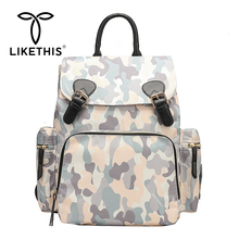 LIKETHIS High Capacity Women Backpacks Multi-pocket Waterproof Quality School Bags Girls Big Cute Backpack Nylon Back Pack