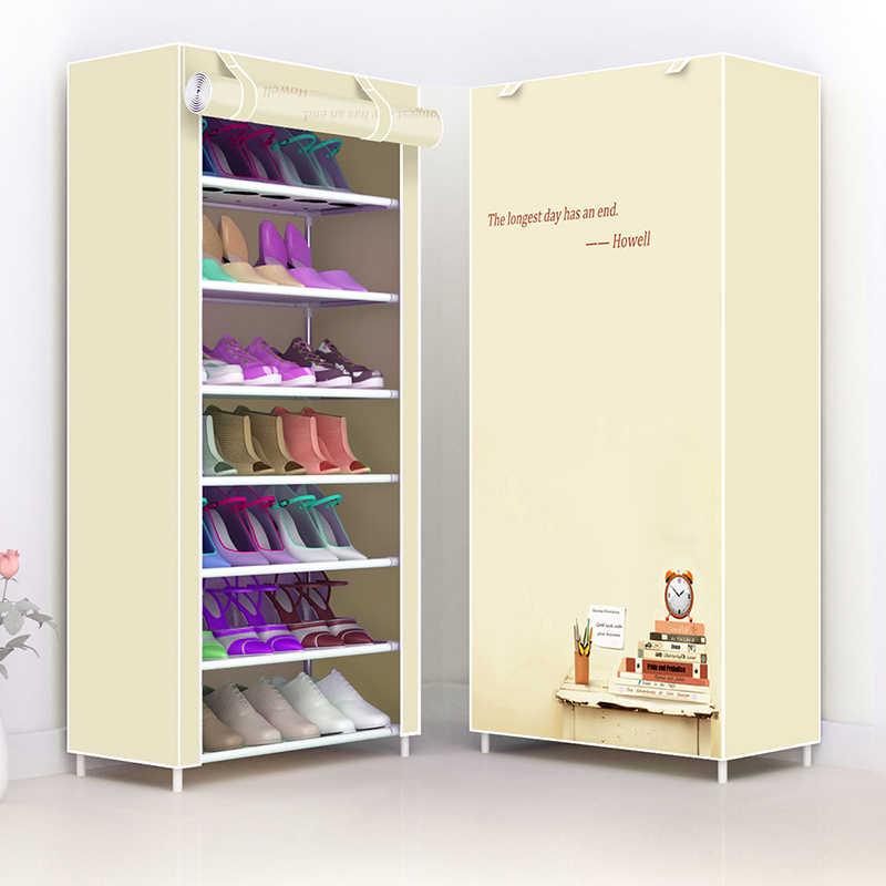 Einfache Multi Schicht Schuh Rack Vlies Stoff Schuh Schrank Flur platzsparende Kombination Schuhe Lagerung Organizer Ständer Halter