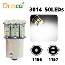 1156 1157 7440 7443 3020 50smd luz de freio do carro p21w auto turn signal bulbo tronco lampcar estilo da placa de licença luzes tronco lâmpada