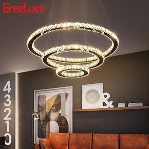 Image 2 - Modern K9 Crystal Led Chandelier Lights Home Lighting Chrome Lustre Chandeliers Ceiling Pendant Fixtures  For Living Room