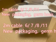 100pcs/lot 100% Genuine Original 1m/3ft 8ic E75 Chip Data USB charging cable for Foxconn X XS MAX 8 7 6 With New packaging 100p
