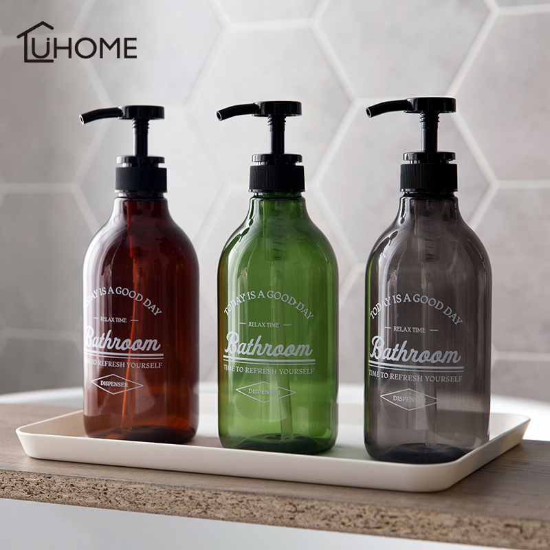 500ml/600ml Soap Dispenser Cosmetics Bottles Bathroom Hand Sanitizer Shampoo Body Wash Lotion Bottle Outdoor Travel Sub-bottle