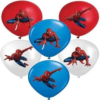 10pcs Super Hero Balloon Latex Balloons Spiderman Kids Spider man Birthday Party Decoration Baby Shower Balloons 18