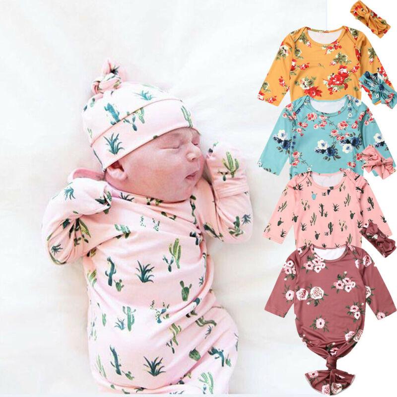 Pudcoco US Stock 4 Colors Fashion Newborn Baby Infant Cotton Long Sleeve Swaddle Blanket Wrap Sleeping Bag 0-6M