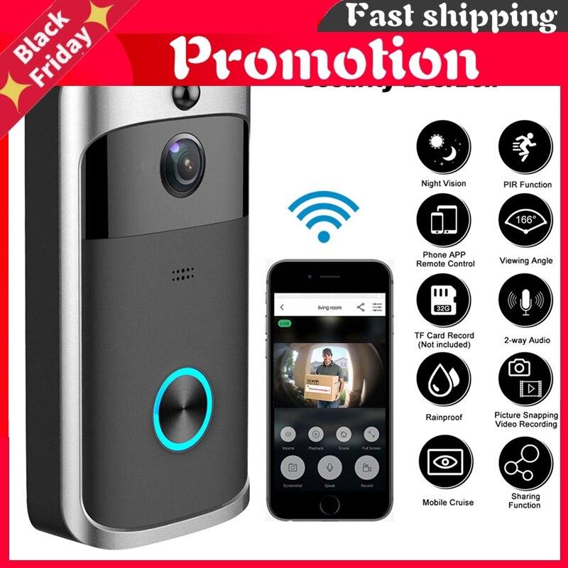 Smart WiFi Video Doorbell Camera Visual Intercom Motion Detection Night Vision Door Bell Wireless Home Security Camera Doorbell