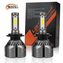 OKEEN 2020 nowy żarówki LED do reflektorów samochodowych H7 LED H4 LED H1 H11 9005 9006 150W 12000LM 6000K biały 12V 24V samochodowe reflektory przednie światła przeciwmgielne