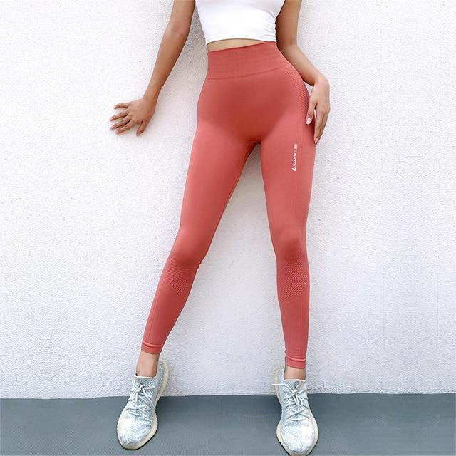 Yoga PantsEnergy Seamless High Waist Leggings Compression Workout Pants Tummy Control Gym Pants Booty Scrunch Fitness Pants 2