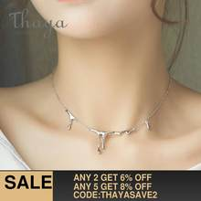 Thaya Original Design Falling Rain Injury S925 Sterling Silver Necklace Simple Choker Necklace Female Jewelry Gift for Women(China)