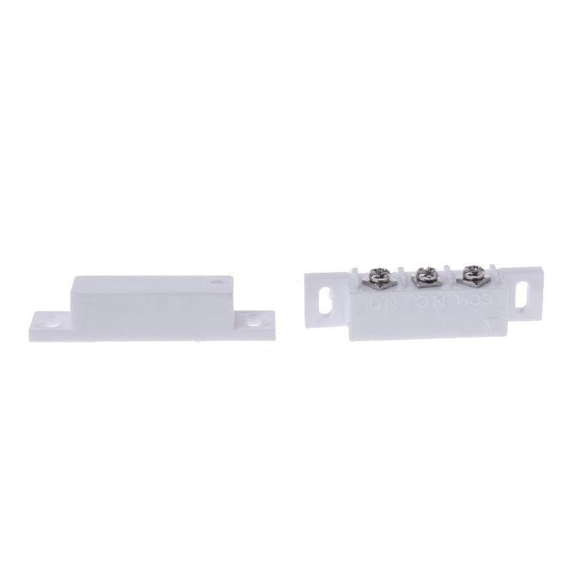 NC без магнитного контактного переключателя датчик двери проводной металлический рольставни двери домашняя сигнализация