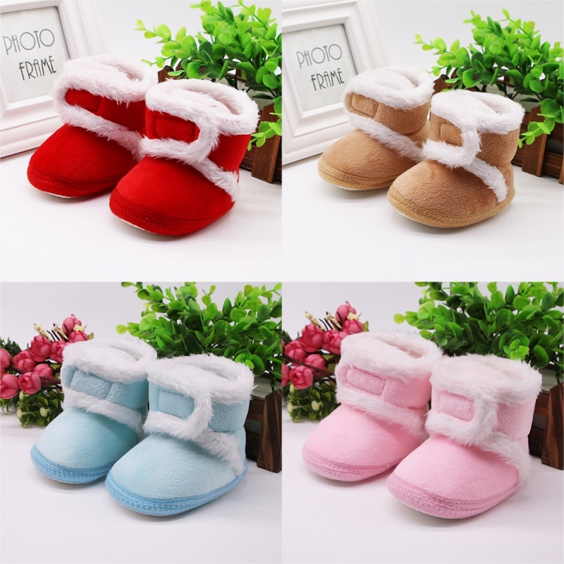 Baby Girls Shoes Winter Snow Boots Warm Ur Baby Booties Anti-slip Infant Boys Bootie Shoes
