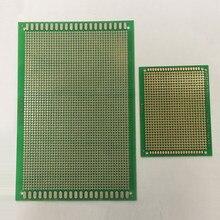 Carte PCB universelle   4*12cm 4x12cm 7*9cm 7x9cm épaisseur de 1.6mm un côté, verre en Fiber époxy verte FR4 trou de soudure, Circuit Test