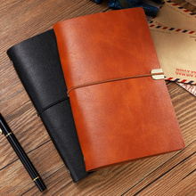 RuiZe A6 A5 leather notebook journal 2020 soft cover spiral planner 6 ring binder office business note book stationery