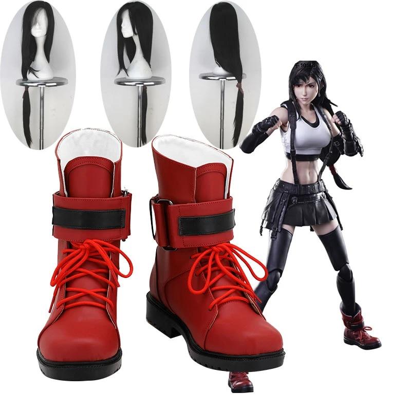 Tifa Lockhart Shoes Cosplay Final Fantasy VII Remake Women Boots /&