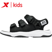 Xtep Black Color Summer Boy Children's Beach Sport Sandals Cool New Boys Baby Kids Sandals Children's Shoes 681215509235(China)
