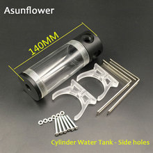Asunflower CPU Water Cooling Pump 50MM Cylinder Reservoirs Waterblock Holder Computer Water Cooling Cooler Radiator 90MM 240MM aluminum g1 4 240mm 2 fans radiator computer desktop water cooling thick 60mm for computer cpu cooling system high quality c26
