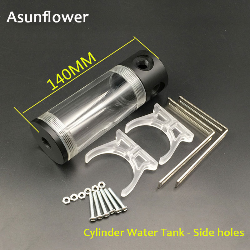 Asunflower <font><b>CPU</b></font> Water Cooling Pump 50MM Cylinder Reservoirs Waterblock Holder Computer Water Cooling <font><b>Cooler</b></font> Radiator 90MM 240MM image