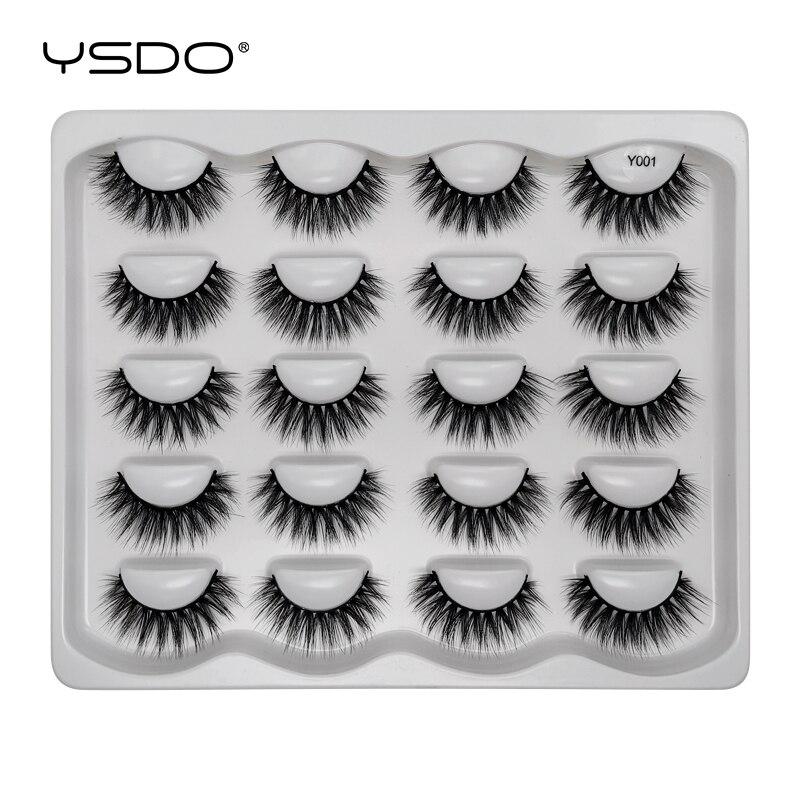 YSDO 10 Pairs Eyelashes Hand Made Faux 3d Mink Lashes Dramatic Fluffy False Eyelashes Makeup Cilios Natural Eye Lashes Maquiagem