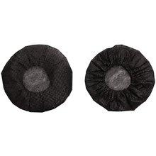 200 шт черные одноразовые чехлы для микрофона караоке анти всплеск