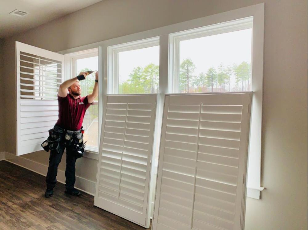 Custom Basswood Plantation Shutters Wooden Blinds Solid Wood Shutter Louvers PS239