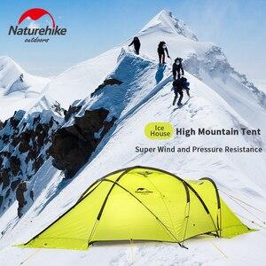 Image 5 - Naturehike 2019 70D קרח אוהל 2 אדם שלג קמפינג אוהל אנטי סטרס מעובה רוח וקר עמיד אוהל מחוספס מהיר בניין