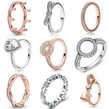 CUTEECO розовое золото серебро Циркон Обручальное кольцо кристалл обручальные кольца для женщин модные ювелирные изделия подарок Anillos Mujer