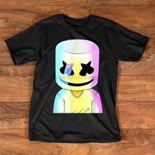 Gelukkig Marshmallows Smore Glow Party Retro T-shirt Verjaardagscadeau Tee Shirt(China)