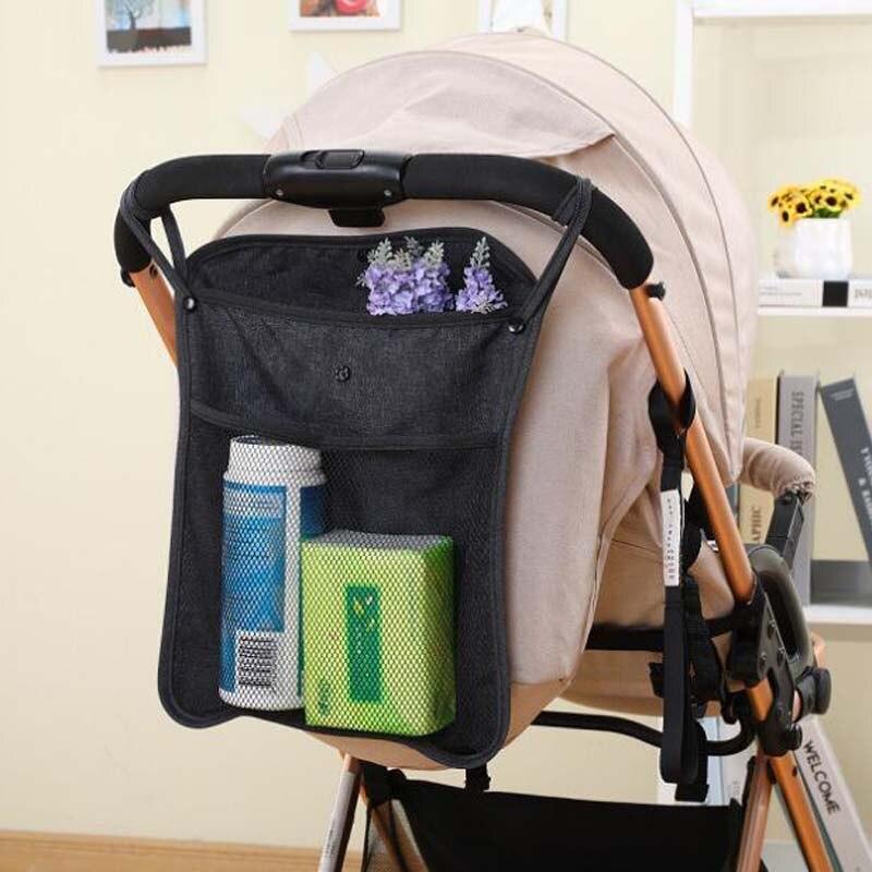 Детская коляска сумка подвесная для детской коляски сумка Сетчатая Сумка детский зонт сумка хранение, портфель для хранения сумка универса...