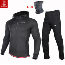 MTB Bike Jerseys Cycling-Set Mountain-Bike Women Sportswear Warm Winter Windproof