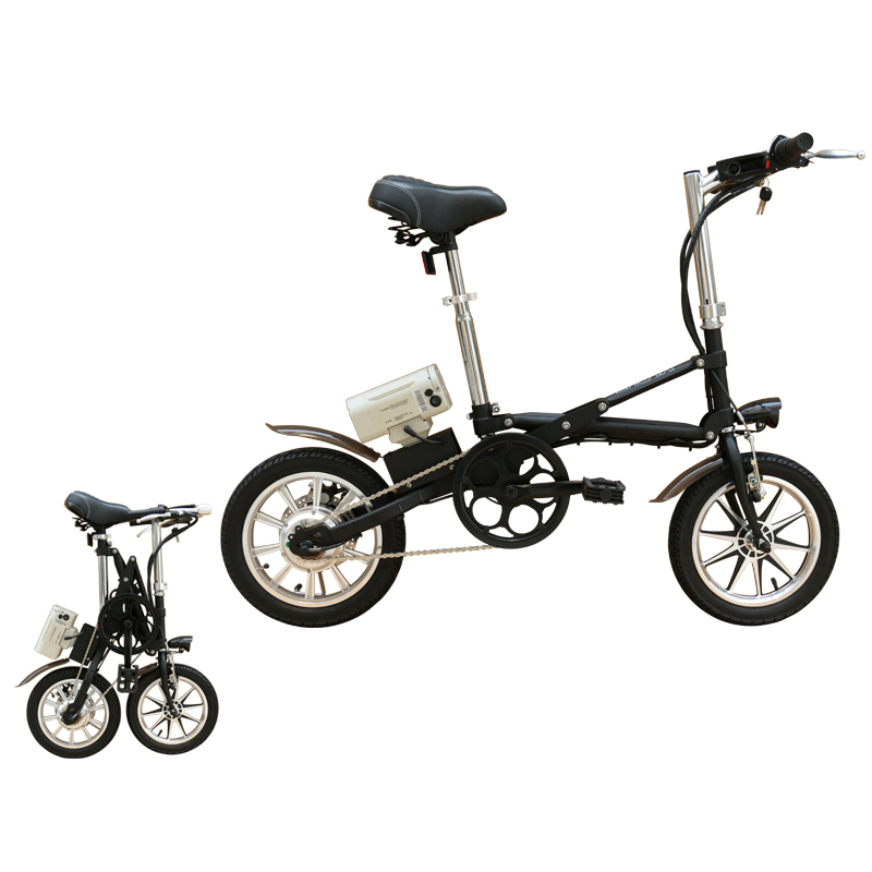 36V250W 14 inch folding electric bicycle with lithium battery brushless motor ebike 1