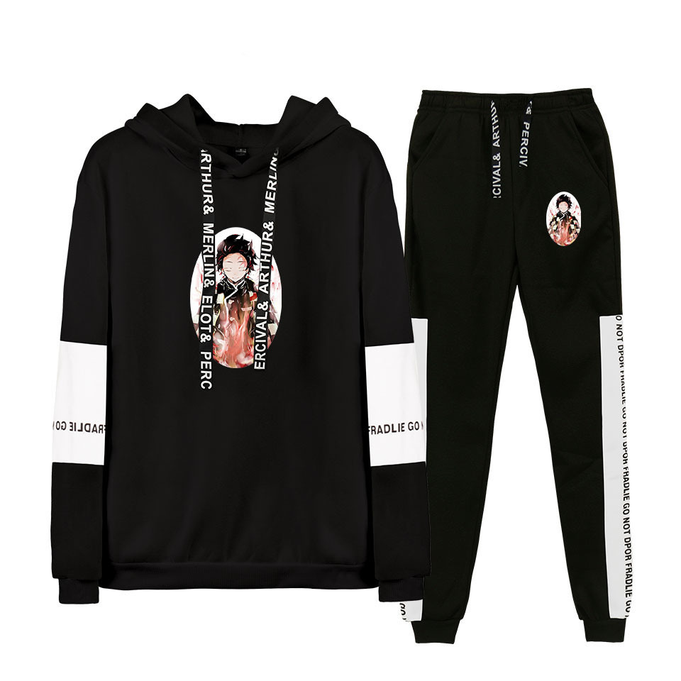 Hot Sales Trend Ghost Mie Zhi Edge Europe And America Casual Fashion For Men And Women-Hoodie Pants Set