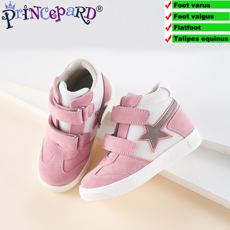Princepard New Orthopedic Sports Shoes Kinder Sneakers For Kids Navy Pink Colors Autumn Children Orthopedic Shoes