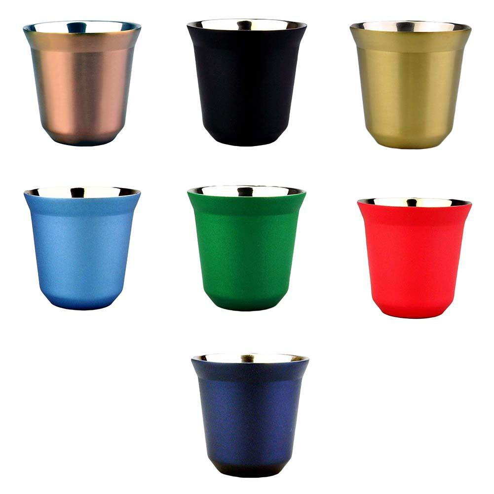 Colourful Powder Coated Tumbler Mug Stainless Steel Outdoor Portable Cup Double Wall Travel Mug Vacuum Insulated Coffee Cup|Tumblers| |  - title=