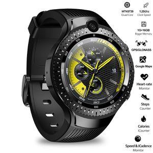 Умные часы Zeblaze THOR 4, 4G LTE, Android, четыре ядра, 1 Гб + 16 ГБ, двойная камера, 1,4 дюйма, AOMLED, GPS/GLONASS, Wi-Fi, пульсометр