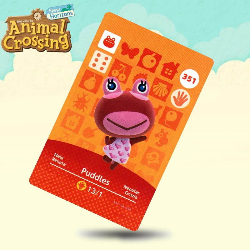351 Puddles Animal Crossing Card Amiibo Cards Work for Switch NS 3DS Games image