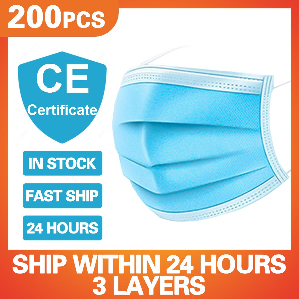 Disposable 3 Layers Medical Masks Prevent Dust Fog Proof Surgery Mouth Mask Health Protection Anti Pollution Prevent Infection