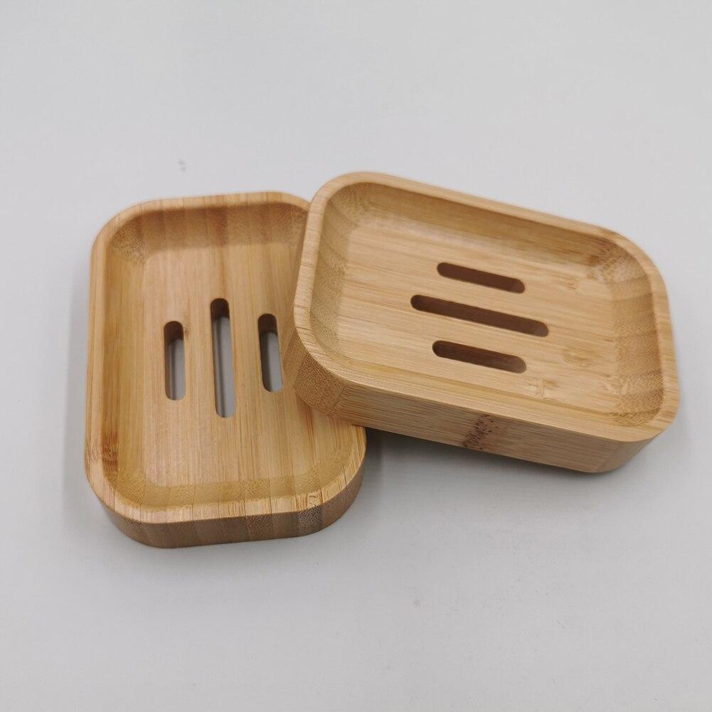 Natural Wood Soap Dish Bathroom