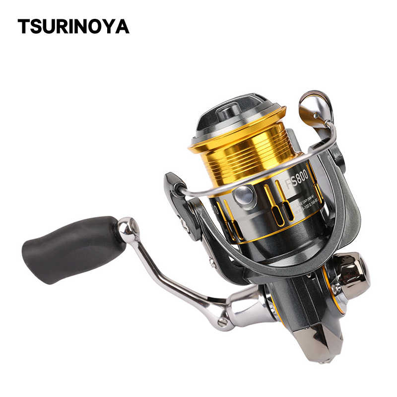 Tsurinoya FS800 Forel Spinning Reel Zoetwater Zoutwater Metalen Spool Reel Fishing Max Drag 4Kg 185G 9 + 1 bearing Ratio 5.2: 1